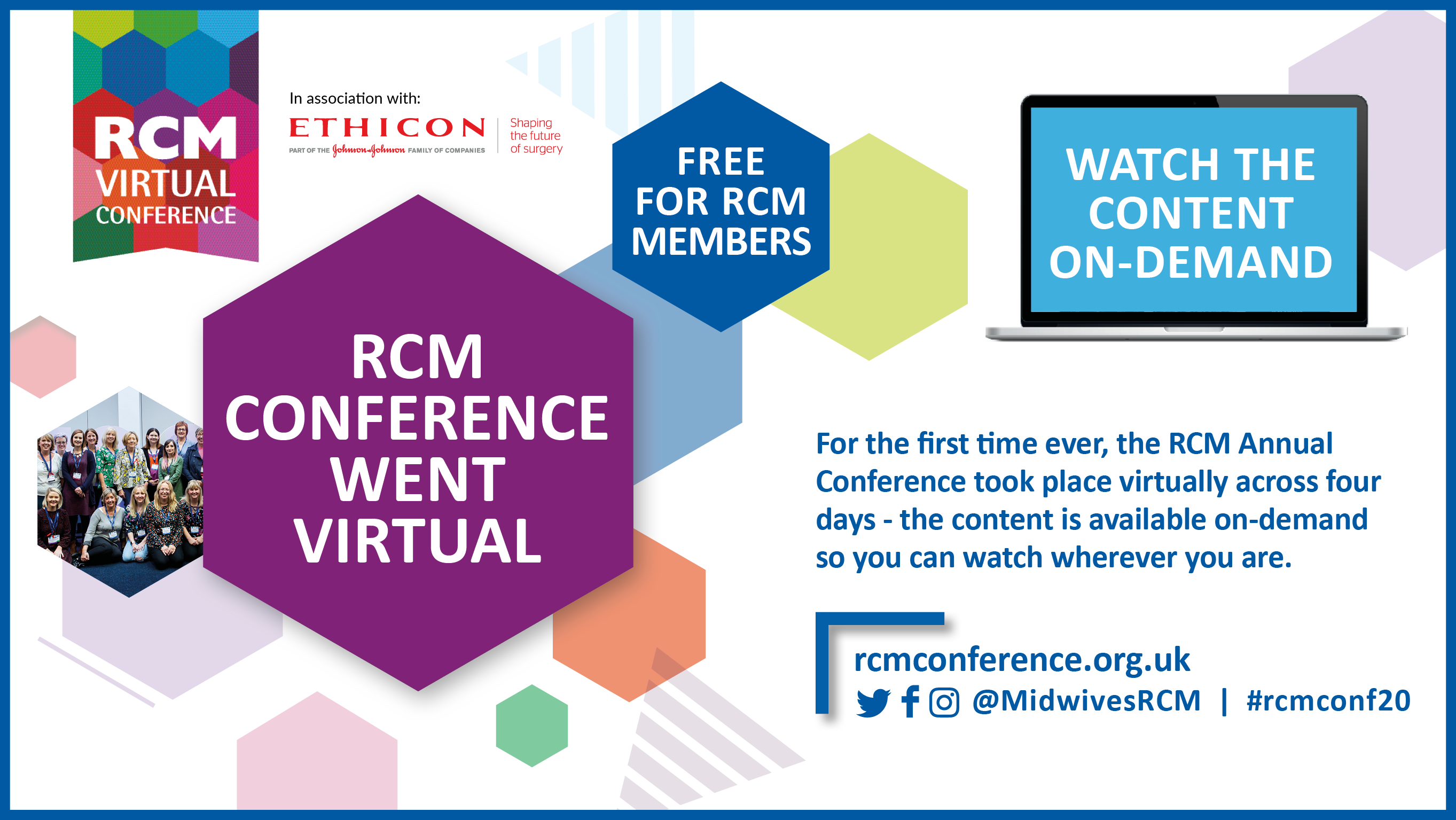 RCM on demand website graphic with sponsor